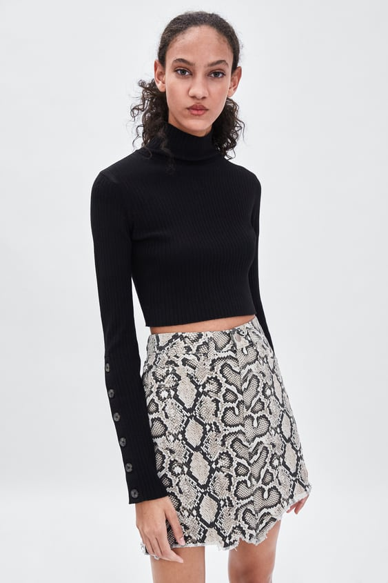 b60aa3c4c SNAKESKIN PRINT MINI SKIRT - SKIRTS | SHORTS-TRF-SALE | ZARA New Zealand