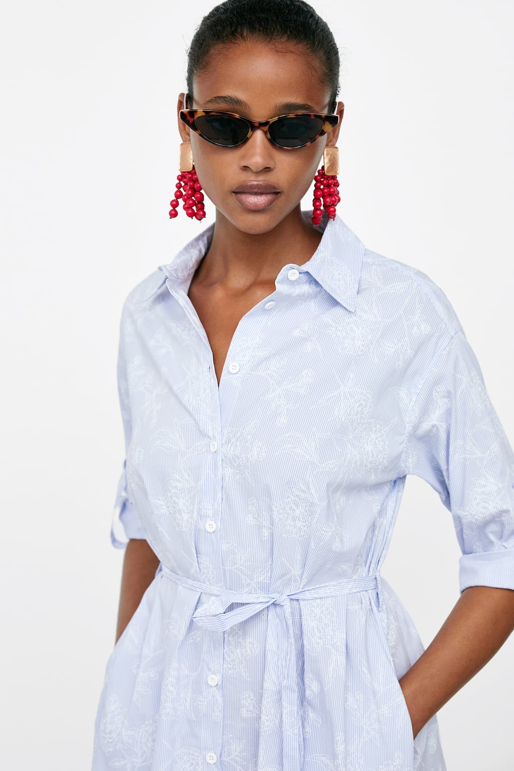 c112506caa Black And White Striped Shirt Dress Zara   Toffee Art