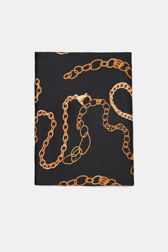Printed Scarf Scarves Accessories Woman by Zara
