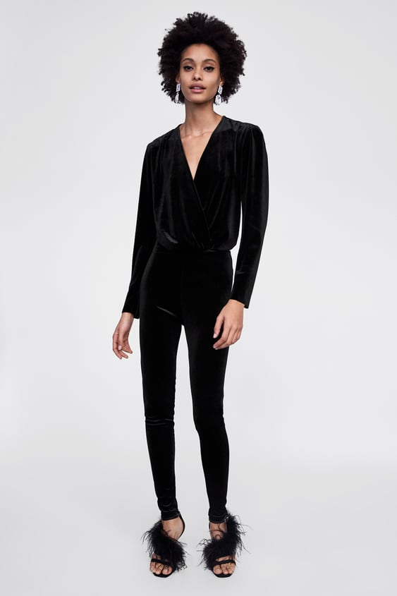 Velvet Look Leggings  Dress Timewoman Corner Shops by Zara