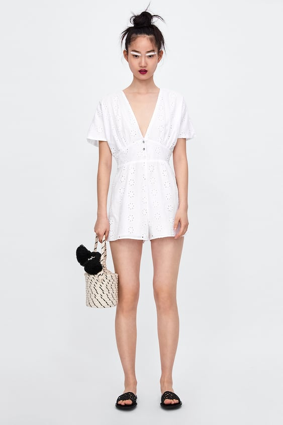 83f208b5d4f EMBROIDERED JUMPSUIT WITH PERFORATIONS - JUMPSUITS-WOMAN-SALE