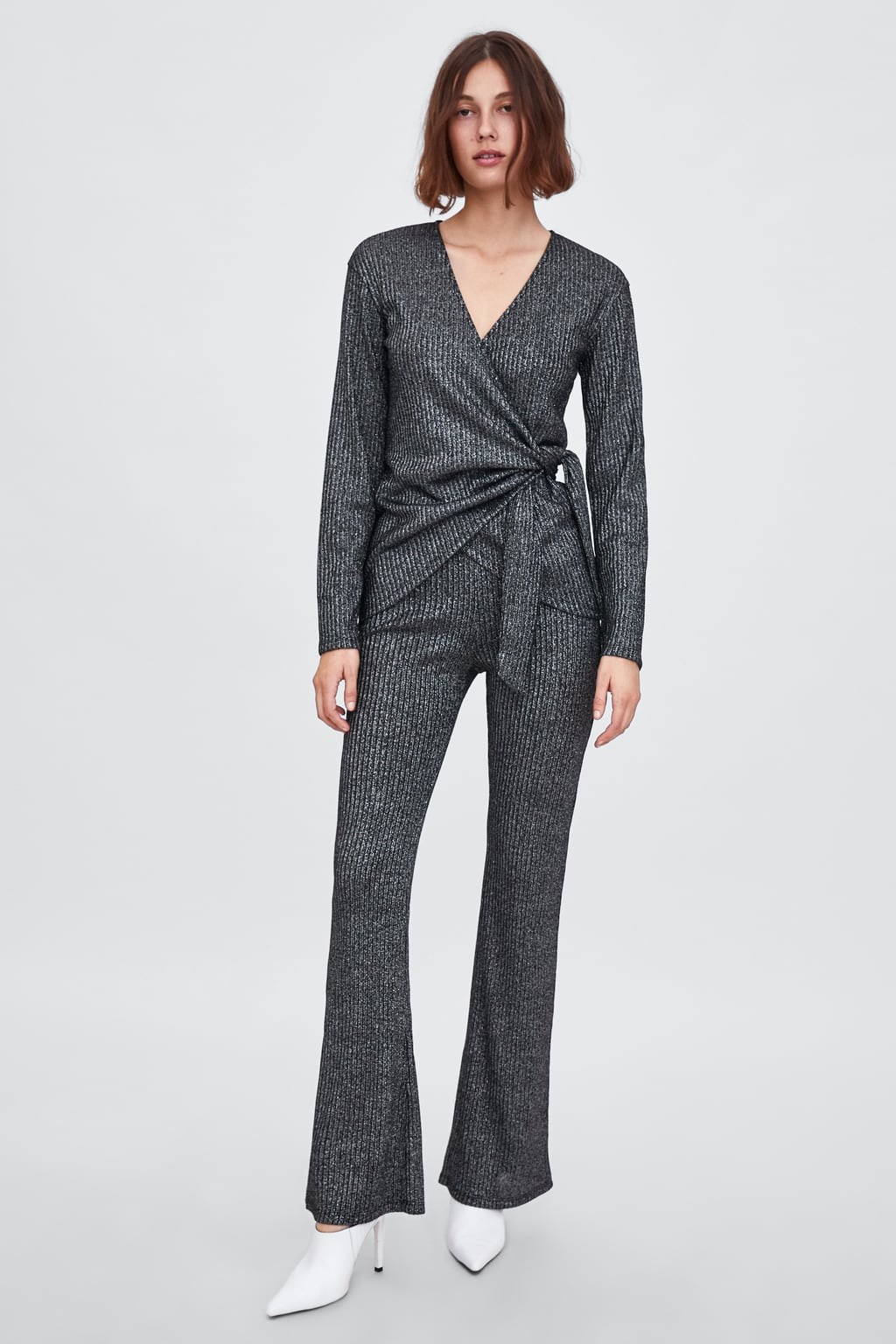 Ribbed Trousers  Wide Trousers Trf by Zara