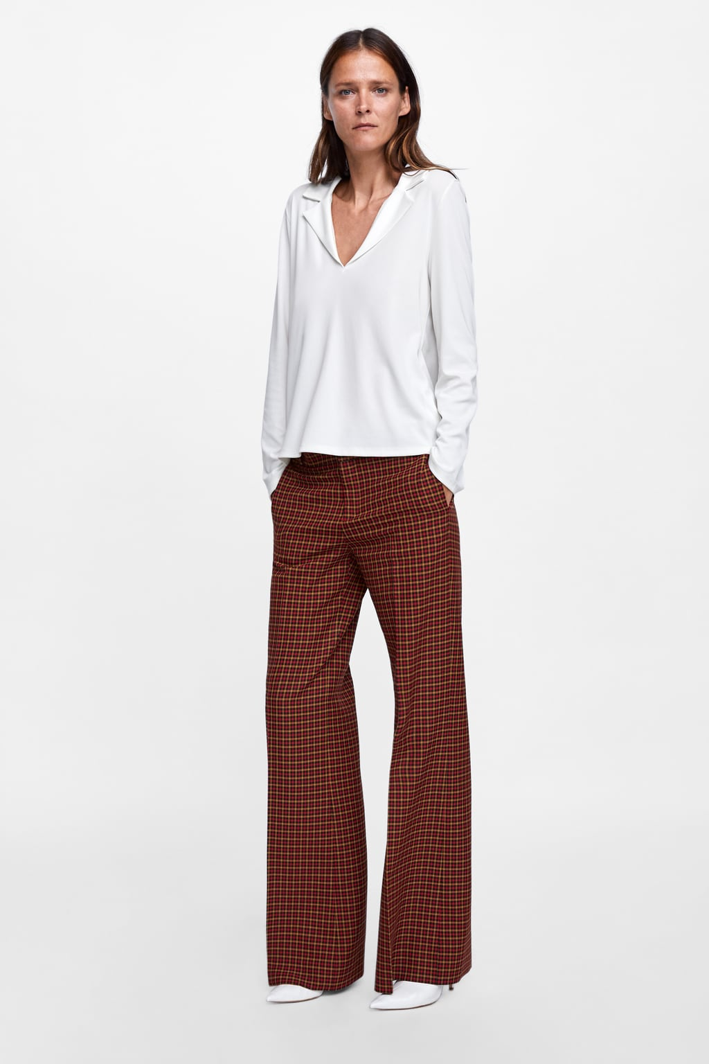 Zara blouse indonesia 21th blouse wearing photo photo source blouse with lapel collar view all t shirts woman zara indonesia stopboris Images