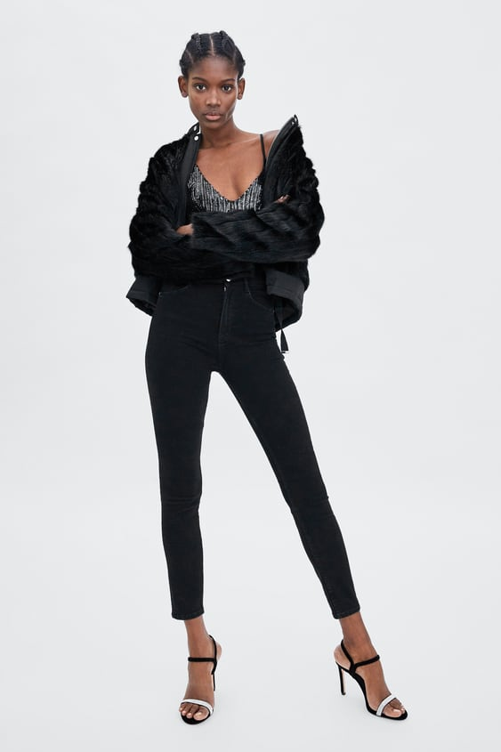 Bomber Jacket With Contrasting Faux Fur  Faux Fur Coats Woman by Zara