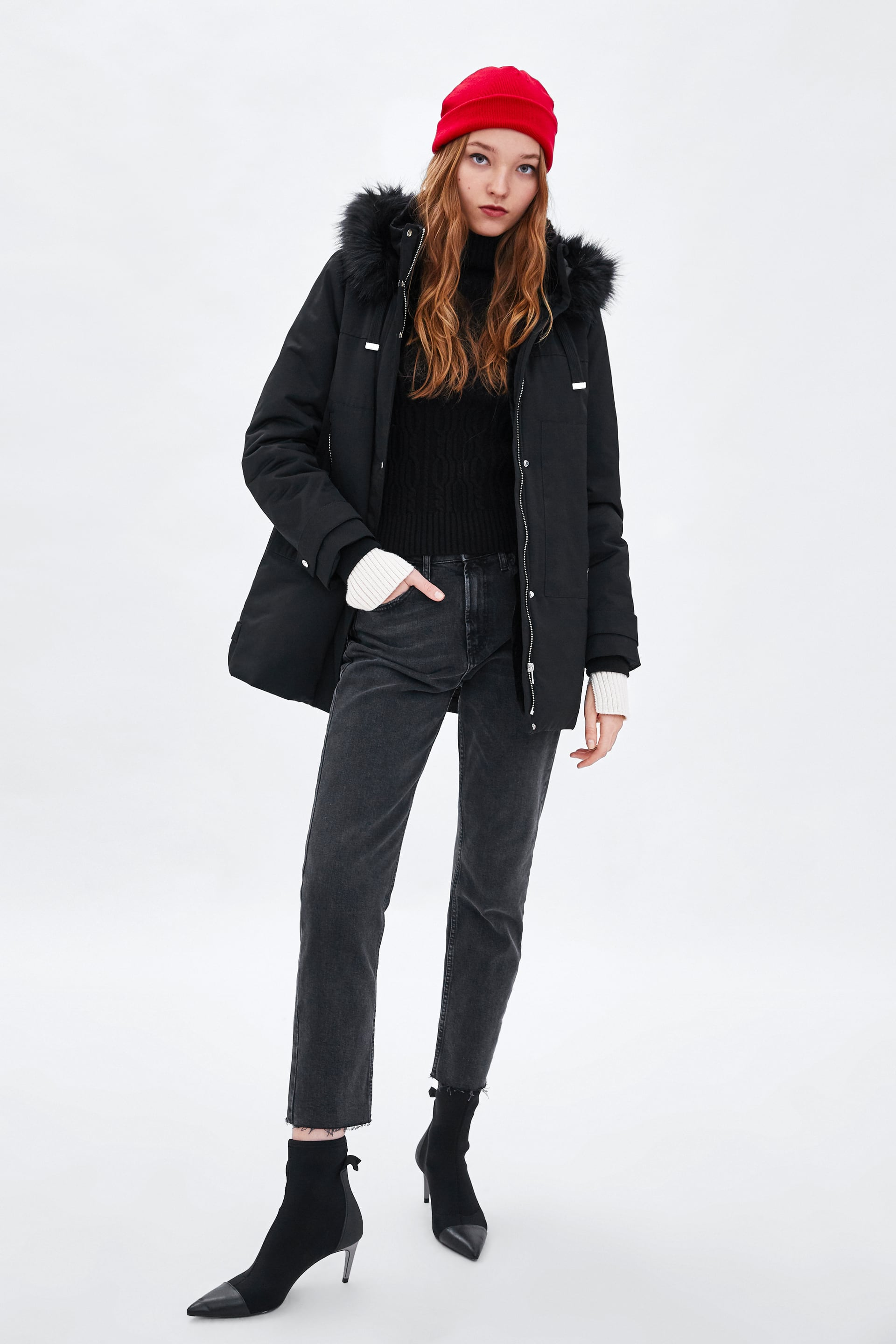 2f47ef68 WATER RESISTANT PADDED PARKA WITH HOOD - Coats-JACKETS-TRF | ZARA ...