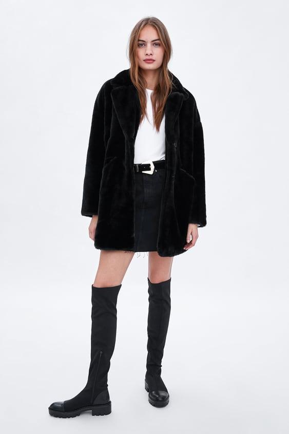 Faux Fur Coat View All Coats Woman by Zara