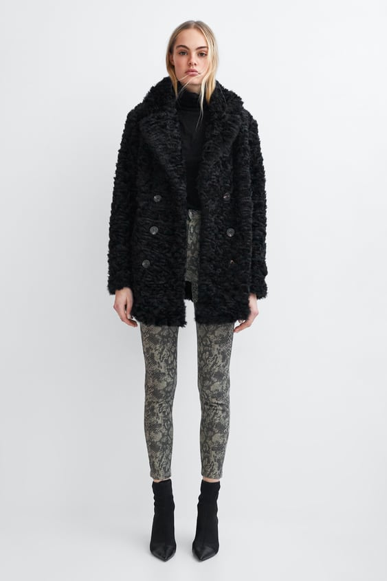 Faux Fur Wrap Coat  Best Sellerstrf by Zara