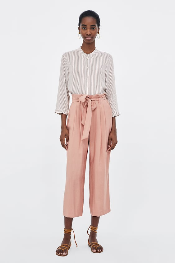 Paperbag Waist Culottes  View All Trousers Woman by Zara