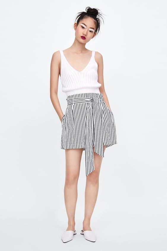 Image 1 Of Paperbag Waist Shorts From Zara