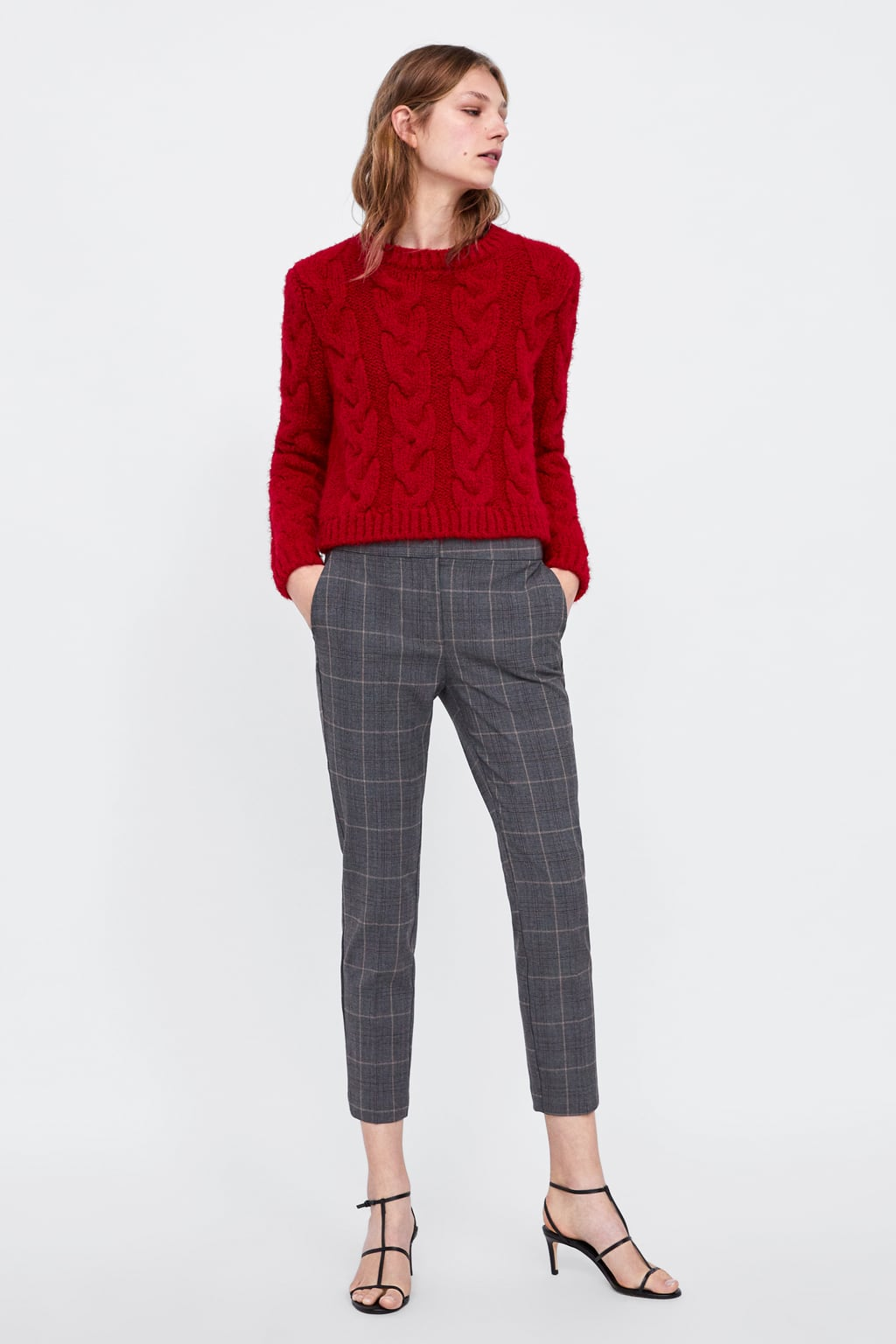 Checked Jogging Trousers  Trouserswoman New Collection by Zara