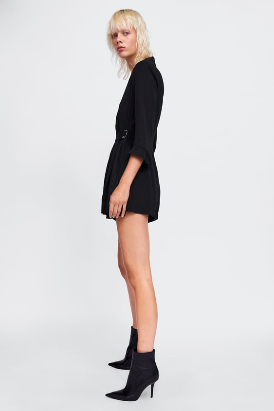 48a4104bc828 Image 3 of PLEATED BLAZER PLAYSUIT from Zara
