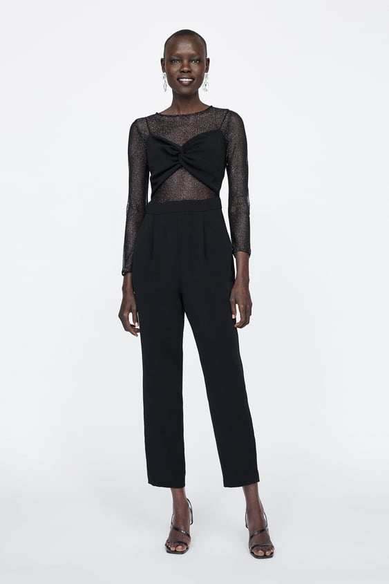 63125ebfbfd Image 1 of CONTRAST SHINY JUMPSUIT from Zara