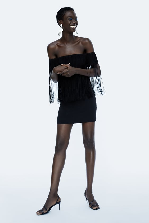 Fringed Dress  Evening Dress Time Woman Corner Shops by Zara