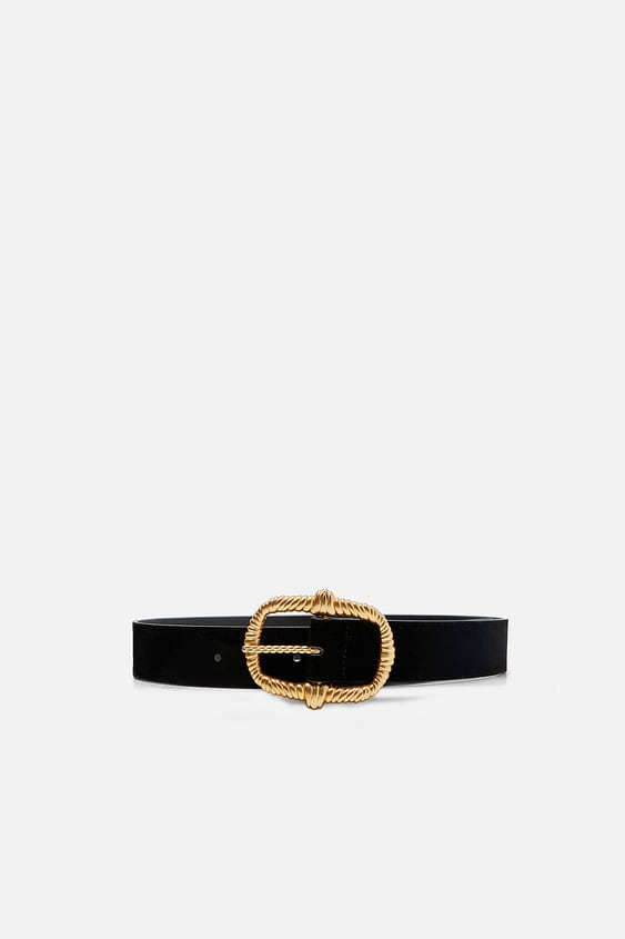 Belt With Textured Buckle  Dress Timewoman Corner Shops by Zara