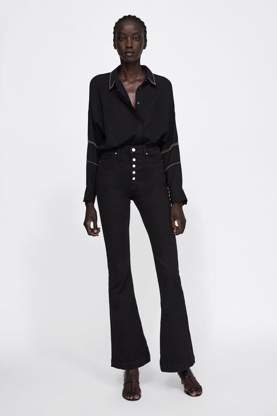 Overhemd Met Studs  Hemden Blousen Dames by Zara