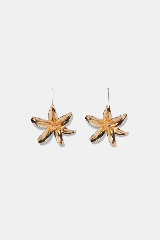 metal-flower-earrings--new-intrf by zara
