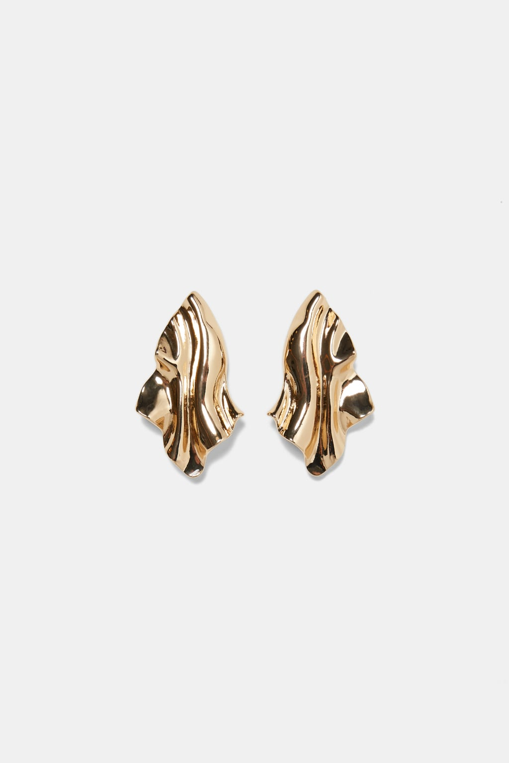 Image 1 of METALLIC LEAF EARRINGS from Zara