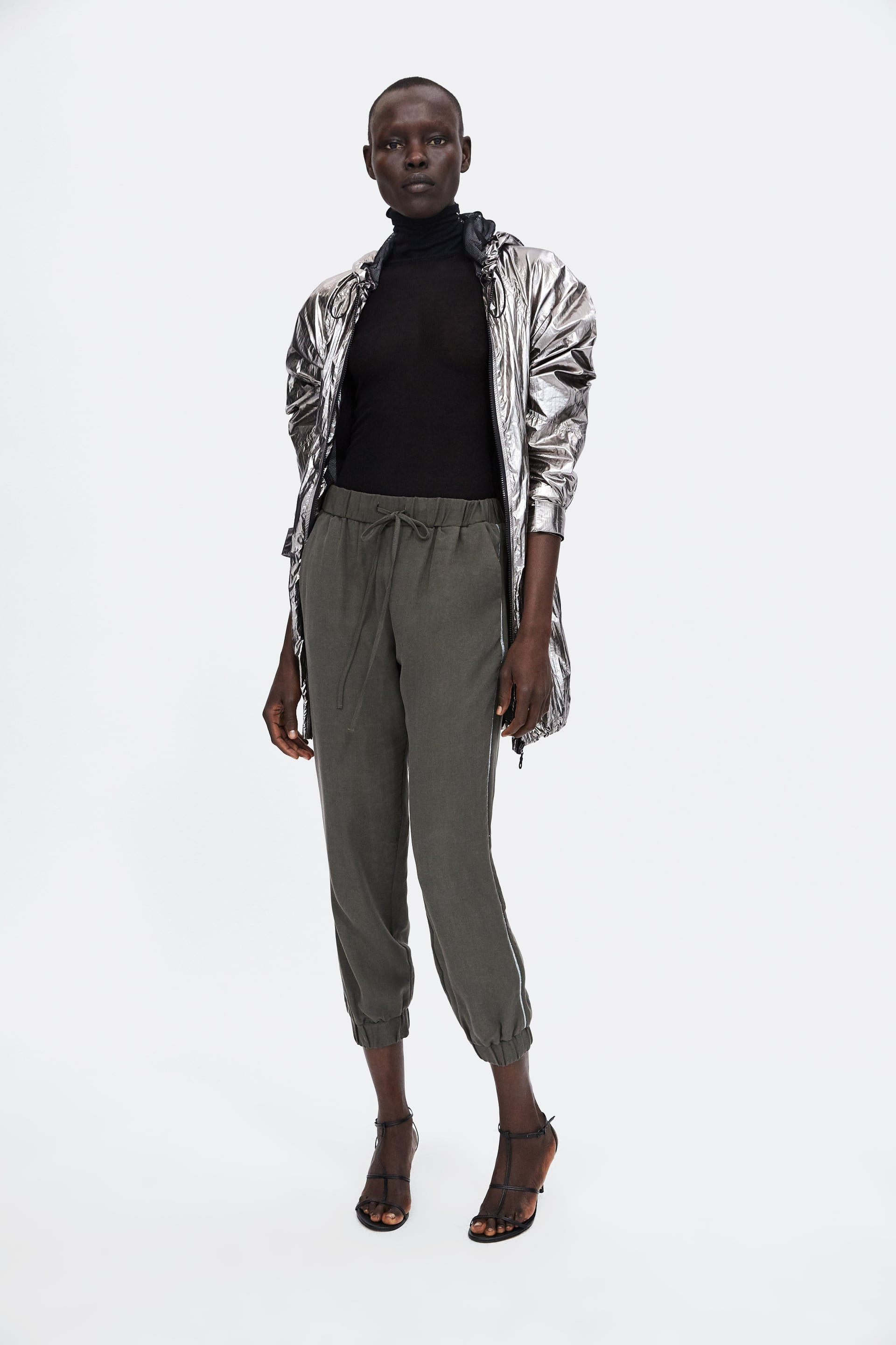 Image 1 of JOGGING PANTS WITH BAND from Zara