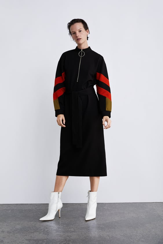 Dress With Contasting Sleeves  Collection Timeless Woman Corner Shops by Zara