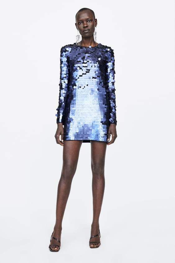 Limited Edition Sequinned Knit Dress  Mini Dresses Woman by Zara