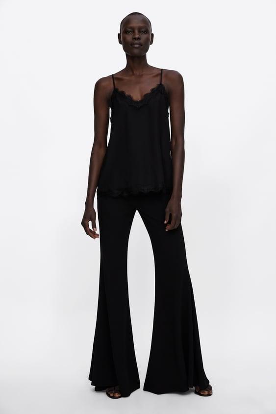 Polka Dot Jacquard Camisole Top  View All Shirts by Zara