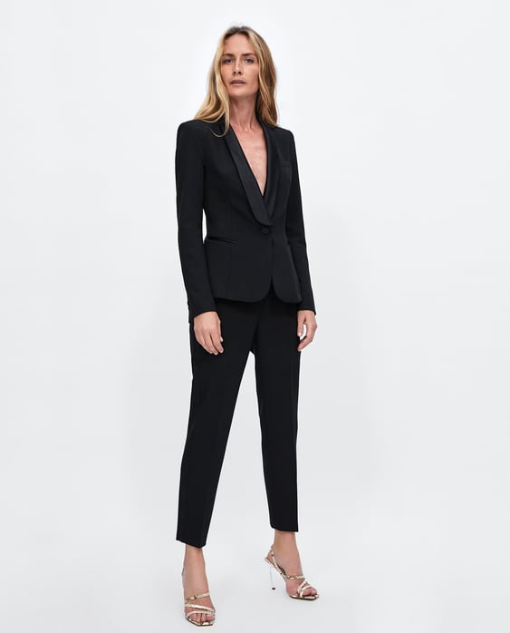Tuxedo Style Blazer Blazers Woman Sale Zara United States