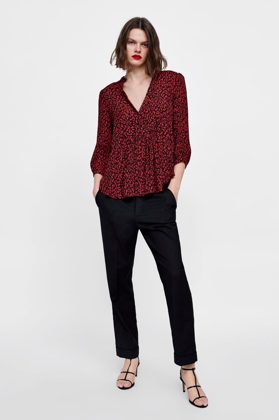 f16060304 LEOPARD PRINT SHIRT - Shirts-TOPS-WOMAN | ZARA South Africa