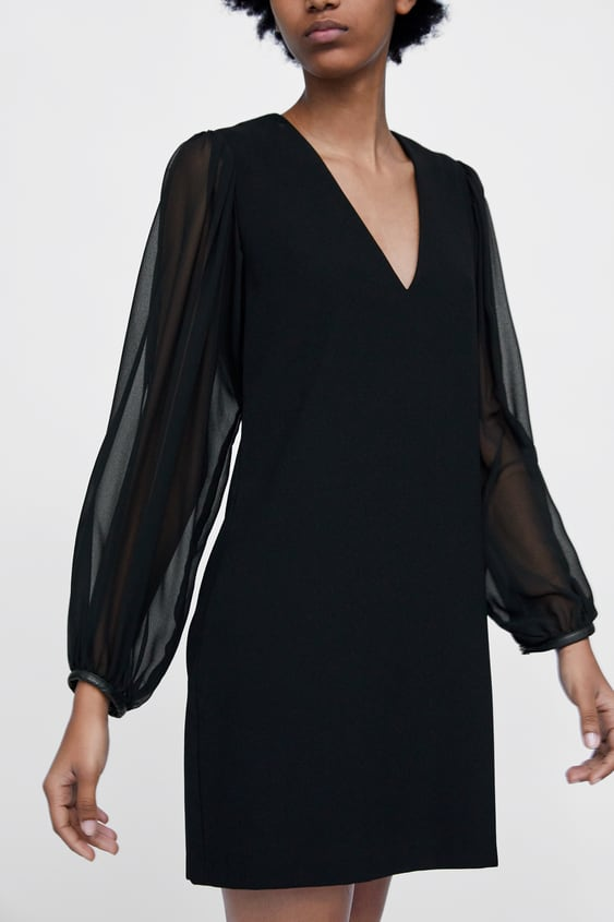 Robe Courte Manches Longues Robes Femme Soldes Zara France