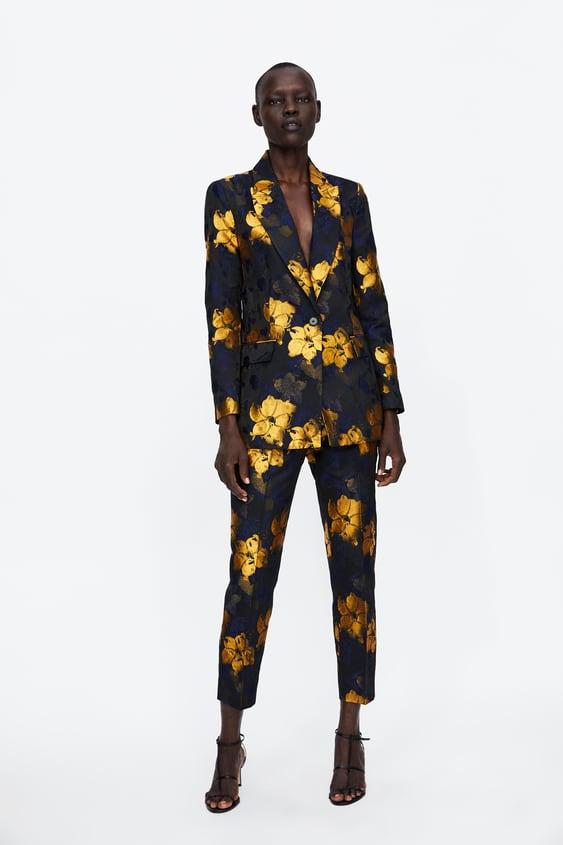 Floral Jacquard Pants  Smart Pants Woman by Zara