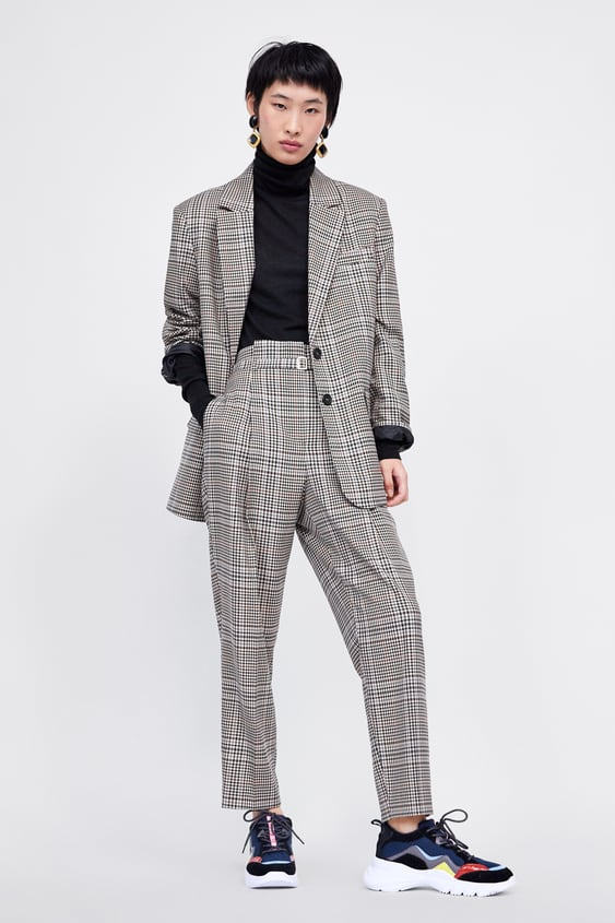 Belted Plaid Pants  Suitswoman by Zara