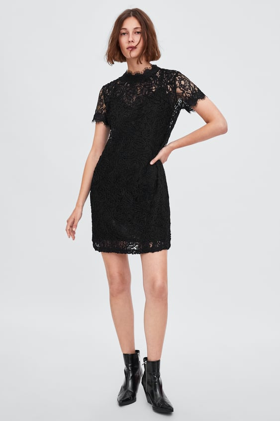 Lace Dress With Tie Dresses Jumpsuits Sale Woman Zara United