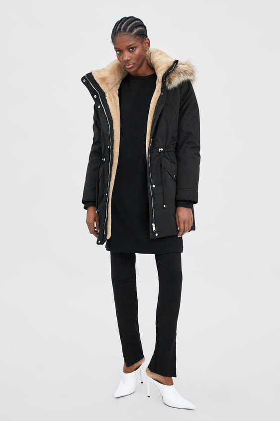 Water Resistant Sorona® By Dupont Puffer Parka  View All Coats Woman by Zara