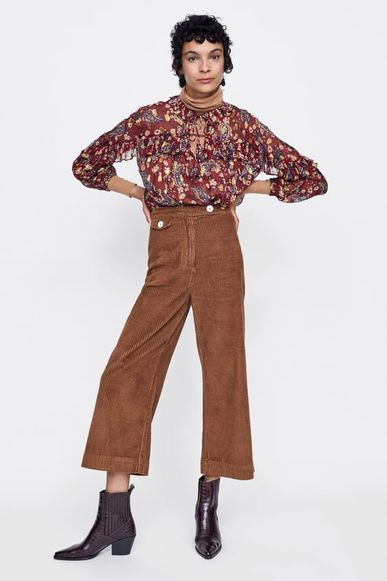 Zw Premium Marine Straight Pants In Brown  View All Pants Woman by Zara