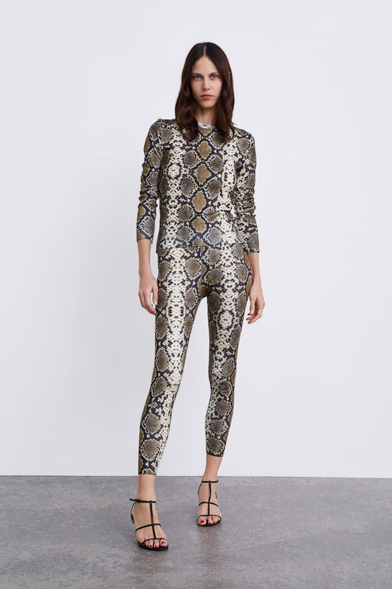 Soft  Touch Animal Print Leggings Collection Timeless Woman Corner Shops by Zara