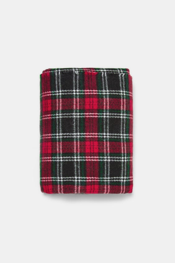 Soft Plaid Scarf View All Accessories Woman by Zara