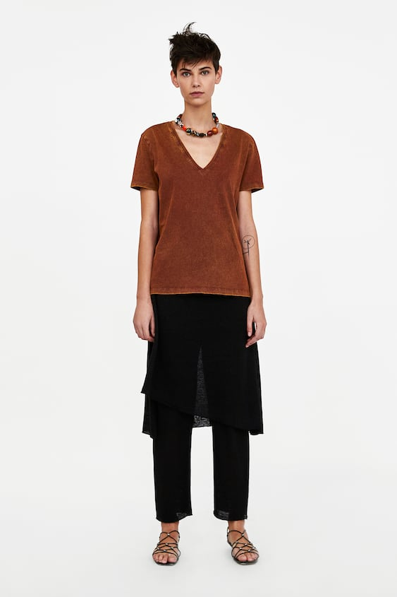 Short  Sleeved Tshirt Tshirts Starting From 50 Percents Off Woman Sale by Zara