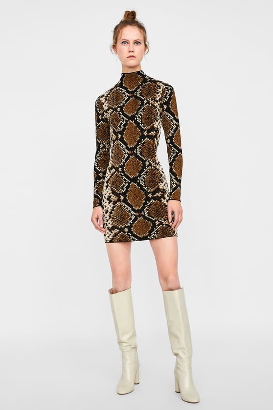 58270c11277c SNAKESKIN PRINT JACQUARD DRESS - Mini-DRESSES-WOMAN | ZARA South Africa