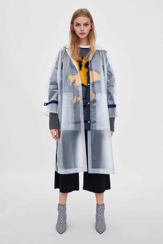 Sheer Water  Resistant Raincoat View All Outerwear Trf by Zara