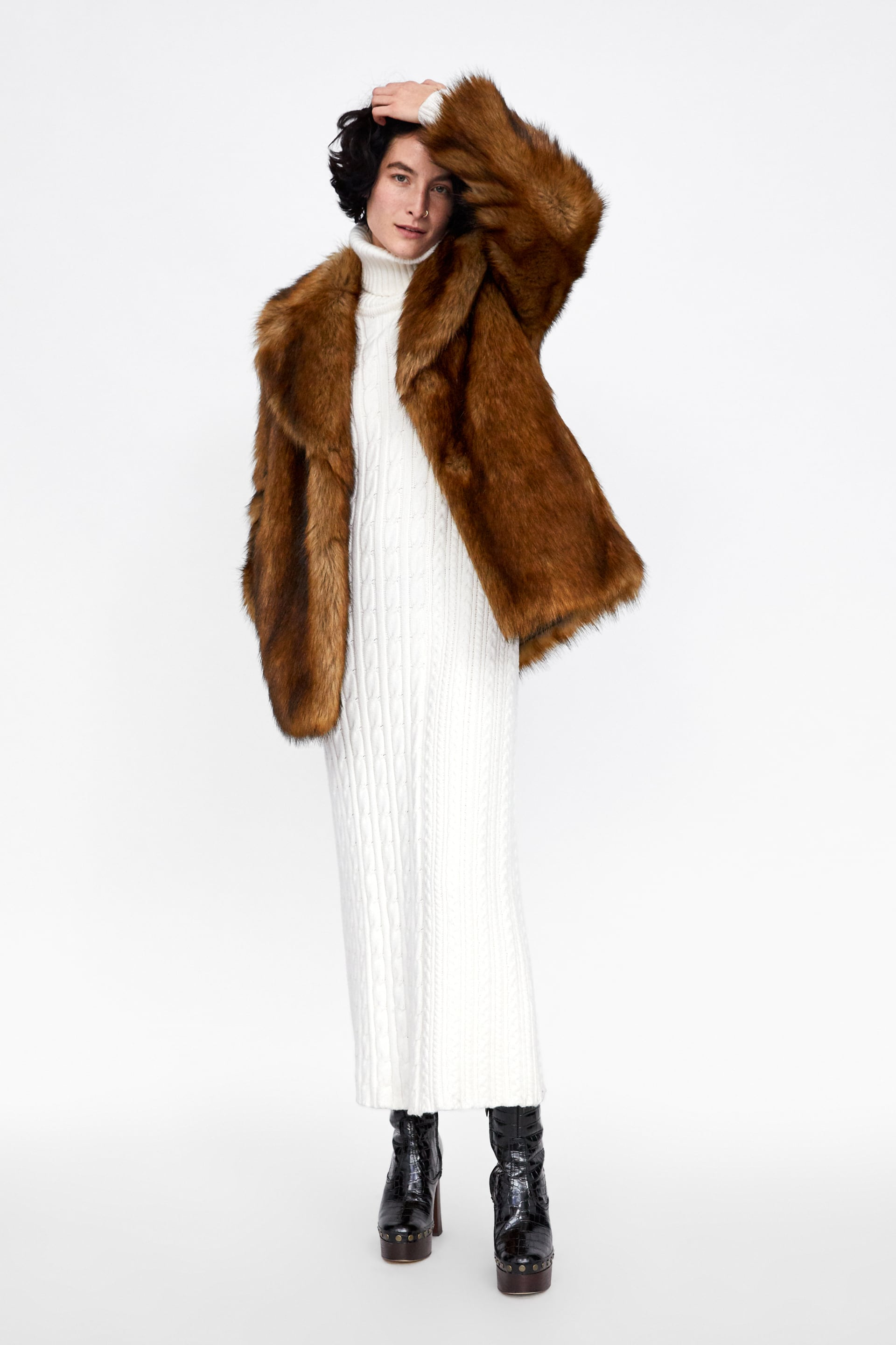 Image 1 of FAUX FUR COAT from Zara