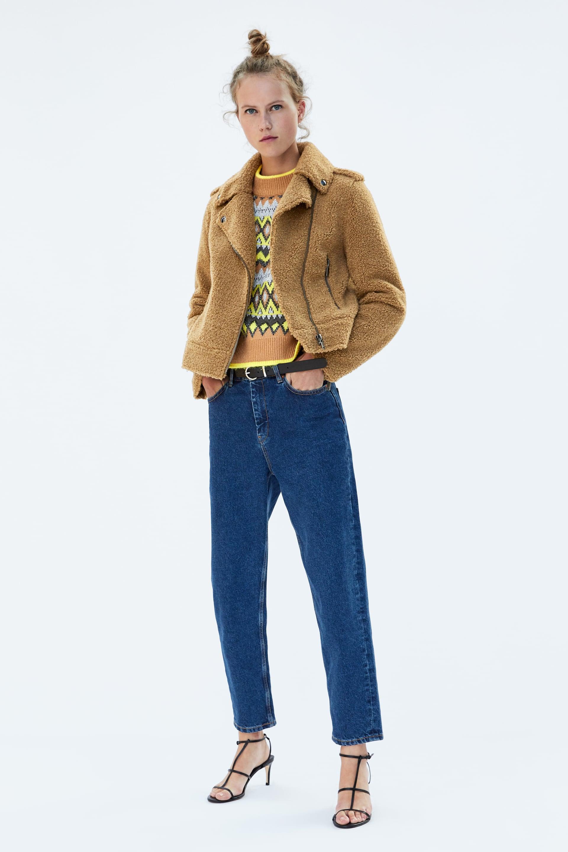 Faux Fur Biker Jacket  Coatsstarting From 50 Percents Off Woman Sale by Zara