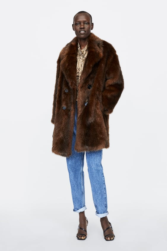 Faux Fur Wrap Coat  Best Sellerswoman by Zara
