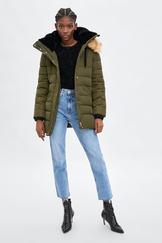 Water  Resistant Quilted Parka View All Coats Woman by Zara
