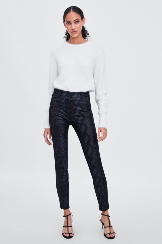 d62c73888da004 SHINY SNAKESKIN PRINT LEGGINGS - Leggings-PANTS-WOMAN-SALE | ZARA ...