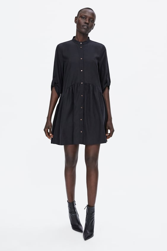 Flowy Dress  Shirt Dress Dresses Woman by Zara