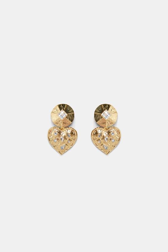 Image 1 Of Heart Earrings From Zara