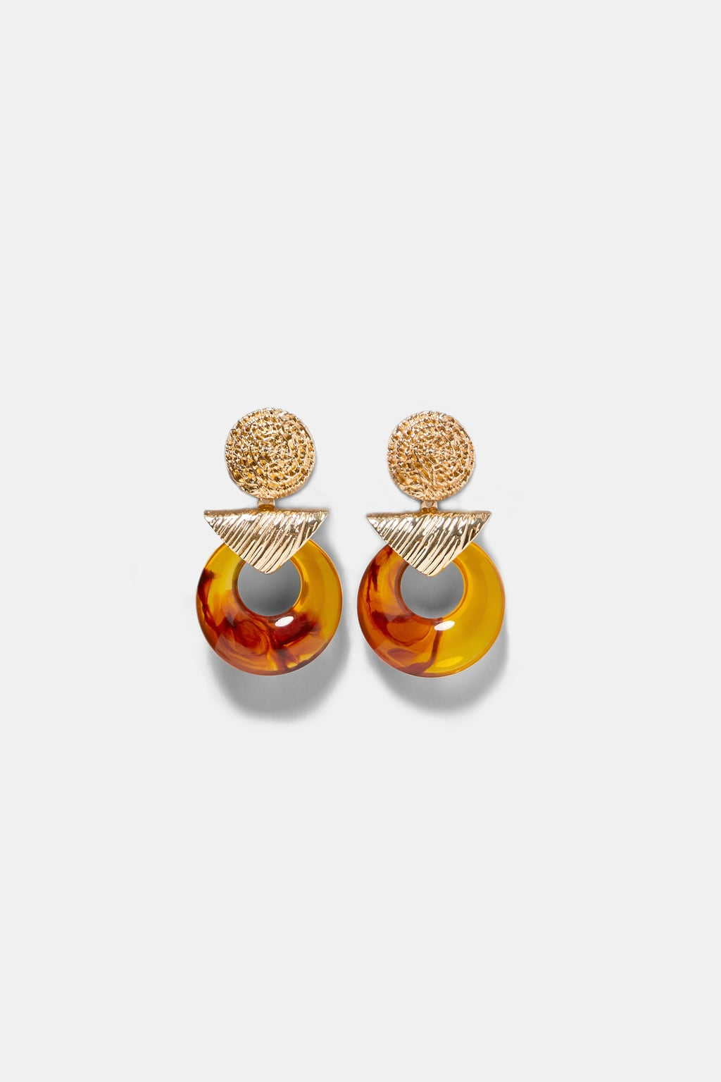 Image 1 of CONTRASTING EARRINGS from Zara