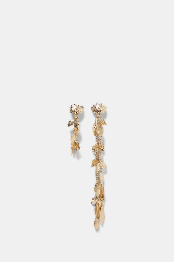 Leaf Dangle Earrings  Dress Timewoman Corner Shops by Zara