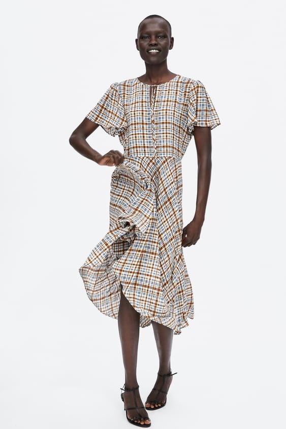 flowing-checked-dress--view-alldresses-woman by zara