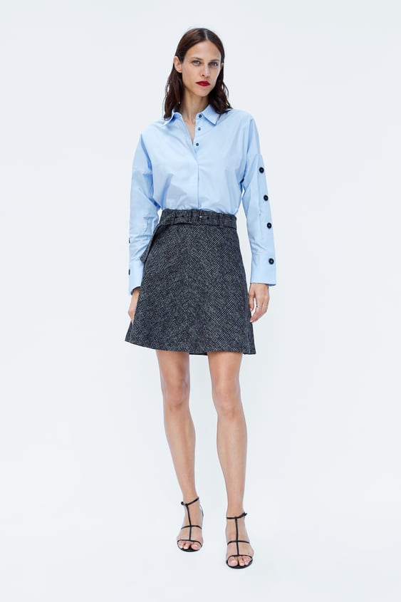 Immagine 1 di MINIGONNA A QUADRI CON CINTURA di Zara