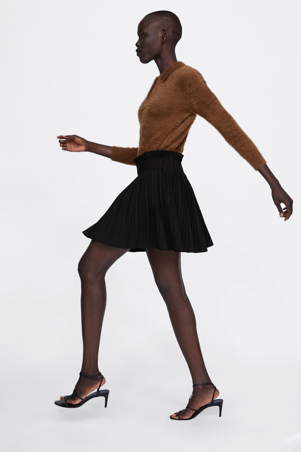 Image 3 of PLEATED MINI SKIRT from Zara